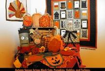 Halloween Crafts to Make! Sewing is Not So Scary After All! / Halloween is my favorite time of year to make fall crafts, quilts, and decorations for my home. I ask my sewing students to guess how many handmade Halloween crafts I had throughout my home (Yes, almost every room is decorated) ... Can you guess? 182.... I know... I can't help it, I LOVE to SEW and Make Crafts for the Fall & Autumn Season!  / by Love To Sew Studio