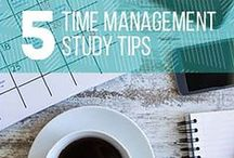 Study Tips / For tips and tricks that will help organize your thoughts, help keep you focused, and help with your next exam, check out our study tips board!
