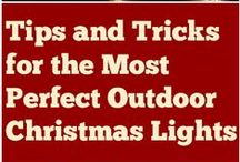 Christmas Light Hanging Tips & Tricks / Tips and tricks on how to hang your Christmas lights like the pros.  Learn the latest trends and ideas for hanging your Christmas lights to create a professional look Christmas light display.