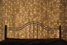 Alternative Uses For Christmas Lights / Unconventional ideas and uses for Christmas lights and design tips.   Great for decorating your home, dorm room, bedroom, or any space with LED Christmas lights.