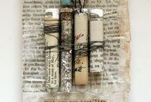 Mixed Media, Collage, Altered Books / Usually includes paper. Torn. Maybe colorful. Collages, altered books and journals, mixed-media presentations - these so inspire me.