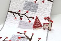 Sewing CHRISTMAS / Runners, table toppers, quilts, blankets, mug rugs, tree skirts, socks and so on!