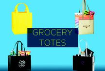 Promotional Grocery Totes / A 2014 study showed that people are more likely to follow your brand if you give back to the community. Branded grocery totes not only promote your brand, but they also send the message that your business is eco-friendly and cares about the environment. And every time someone decides to use your grocery tote printed with your logo, they'll be increasing your brand exposure.