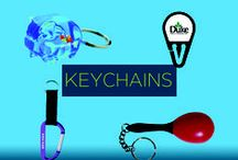 Promotional Keychains / Promotional keychains are great additions to your promotional items because they keep your company's brand in front of users every single day. They'll be reminded of your business every time they go for a drive, and your brand will be making a lasting impression on not only the driver, but the passengers, too!