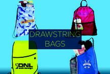 Promotional Drawstring Bags / Because they're so efficient and versatile, the uses for promotional cinch and drawstring bags are essentially endless. To ensure the utmost exposure of your brand, be sure to give away promotional drawstring and cinch bags at your next trade show, conference, expo, convention and more.