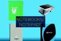 Promotional Notebooks / For everyone from the casual jotter to the creative multi-tasker, a custom branded notebook or notepad provides a unique means of reaching a broad consumer base. With your name and logo front and center, you can creatively drum up some meaningful brand awareness.