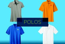 Promotional Polo Shirts / These soft, comfortable custom polo shirts offer an economical way to exhibit your brand. Because of their simple, durable design, these promotional polo shirts can easily become a staple piece of clothing for your customers. When you share a custom branded polo shirt with your consumers, your name and message will be stitched into their minds for a long time.
