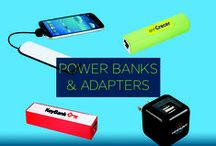 Promotional Power Banks / Looking for the perfect way to recharge your brand? These custom promotional power banks and adapters allow you to do just that. Have your brand neatly displayed on devices that so many consumers use everyday! / by Pinnacle Promotions