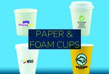 Promotional Paper Cups / Safely contain hot OR cold beverages in custom branded promotional paper & foam cups that are also recyclable. Whether you want the standard white or a pop of color, there is a cup that will give your brand a much-needed lift.  / by Pinnacle Promotions