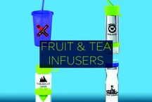 Promotional Fruit/Tea Infusers / Infuse some flavor into your beverage AND your brand with custom promotional fruit & tea infuser bottles. Get your fill of this unique branding opportunity, and expand your reach!