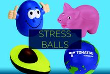 Promotional Stress Balls / You can help your customers ease their tension, and you can build brand loyalty with custom promotional stress balls. Available in all sorts of quirky shapes from hamburgers to airplanes to soccer balls and more, customers will have a fun, yet still useful way to remember your brand name.