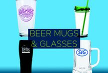 Promotional Beer Mug & Glasses / The next time your customers want to quench their thirst with a cool swig of beer, your branded beer mugs and glasses will be right by their side. You can choose from an array of glass shapes and sizes that are in tune with your brand. So say cheers to greater brand visibility and engagement with custom branded beer mugs and glasses.