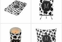 """Personalized Items for Home / Even if your home decor taste tends to lean toward """"eclectic"""" in flavor, it can be fun to add personalized items around the house with pops of monograms and other unique, distinctive elements."""
