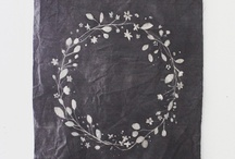 fabric printing and stamping / Dying to learn fabric printing and design.  Here are some inspiring pieces and how toe.