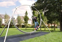 Stainless Steel Play Equipment / A range of exciting, dynamic, low-cost, stainless steel playground equipment.
