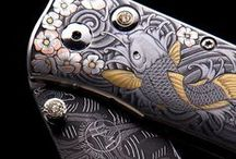 Weapon Design: Today & Yesterday / Beautiful designs of swords, knives, guns, shields, etc.