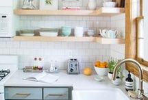 K I T C H E N & D I N I N G / All sorts of pretty kitchens and lovely table settings