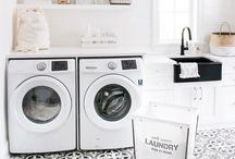 L A U N D R Y / Laundry room ideas and organization ideas.
