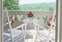 Pretty and peaceful porches / by Vickie Cooperider