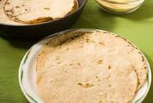 Flatbread and torilla / I am looking for a really good tortilla recipe that is easy to make. I would love to make corn tortillas but so far I have only managed wheate ones.