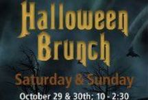 Halloween Brunch,  Deviliciously Delicious / You can celebrate brunch before All Hallow's Eve or the day after.  Either way, you deserve a festive day of pumpkins:  food, drink and even a touch of spa indulgence.  Relax, it's brunch and you've earned it! / by This Is Halloween!