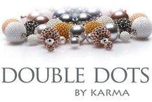 Double Dots / De Double dot tribal oorbellen zijn DE trend van dit moment! Geïnspireerd op de oorbellen ontworpen door Dior en gedragen door vele sterren zoals Emma Watson, Rihanna en Charlize Theron.  Deze nieuwe tribal oorbellen zijn een mooie uitbreding van de klassieke parel- en kristallen oorbellen. Ze zijn er in alle actuele modekleuren en diverse maten.
