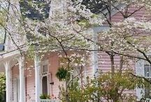 oLDe FaDeD PiNk CoTtAgE / pinning is for sharing, pin away*** / by Jerry Eastin