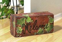 Painted Bricks & Pavers / by Susan Dudsic