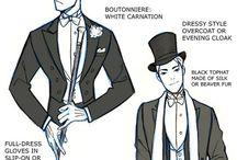 服の構造など