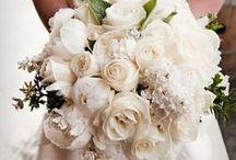 Kristine + Eric / all white wedding, white tulips, green garland, white wedding,