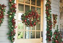 Door Décor & Wreathes / Door décor and beautiful wreathes & garlands for the holidays. A festively decorated mantel, complete with stockings hanging in a row, brings back nostalgic memories. Create a tradition your family will treasure when you shop our holiday mantel decorations . . . garlands, mini trees, candles and more. Because many are lighted with batteries, there's no trying to hide a cord. / by Solutions