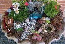 fairy gardens/garden art / by Katy Fox