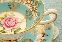 Tea Party / Beautiful tea cups and saucers