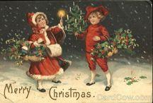 Vintage Christmas / Antique and vintage Christmas postcards, ephemera and printables. Santa Clause, Christmas tree, children, angels