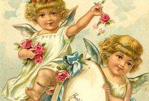 Vintage Angels / Antique and vintage postcards, ephemera and printables with Angels, cupids and cherubs