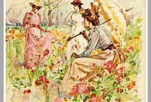Vintage Floral & Seeds / Antique and vintage floral postcards, ephemera and printables, also seeds