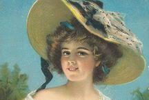 Vintage Ladies / Antique and vintage postcards, ephemera and printables with ladies and girls