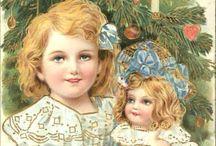 Antique Dolls Postcards / Antique and vintage postcards, ephemera and printables with dolls