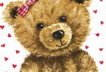 Postcards with Teddy / Antique and vintage postcards, ephemera and printables with children and their favorite teddy-bears