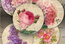 Vintage Tags & Printables / Vintage styled tags, collage sheets, printables