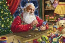 Christmas | Marcello Corti / Illustrations of Santa Clause by Marcello Corti are the most beautiful Christmas illustrations! I wanna buy postcards with all of them!