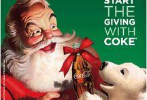 Christmas | Coca Cola Santa / Joyful coke Santa Clause advertisement. You feel Christmas when you see the ads