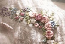 Embroidery / Embroidery inspiration. Floral embroidery. Silk ribbon embroidery