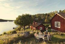 Farm Houses / Farm houses and barns, beautiful peaceful countryside landscapes