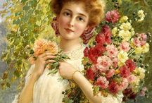 Art | Emile Vernon / Beautiful paintings by a French artist Emile Vernon (1872-1919)