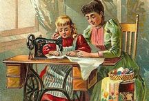Vintage Sewing / Antique postcards, printables, ephemera. All about sewing!