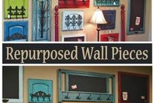 Repurposed Wall Pieces / At Facelift Furniture, we love repurposing weary, worn, and dated furniture pieces and cabinet doors. Find our favorites here, and even more DIY inspiration on our website at http://www.faceliftfurniture.com/gallery/re-purposed-wall-pieces/