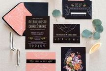 Wedding Stationary Design Ideas / design inspiration for wedding paper goods.