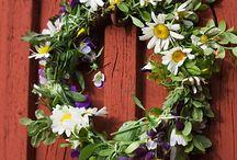 scandinavian summer / Swedish summerhouse & midsummer celebration / by Lara Dennehy Horsting