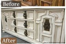 Dressers / Dressers Collection ~ painted, glazed, and distressed by Facelift Furniture. At home in bedrooms, and repurposed as media consoles in living areas. Find more DIY inspiration on our website at http://www.faceliftfurniture.com/gallery/dressers/